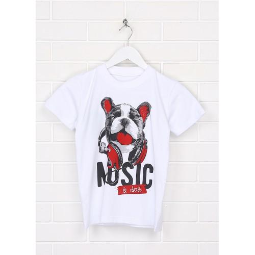 Футболка Malta ДМ403/1-24-Н Music белая