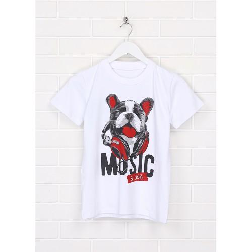 Футболка Malta ДМ403/2-24-Н Music белая
