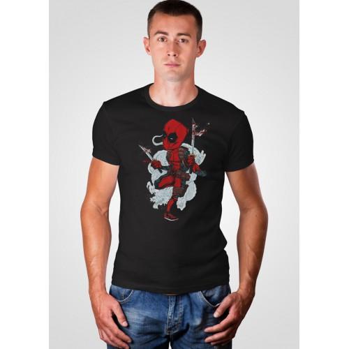 Футболка Malta 19М319-17-РЧ Crazy Deadpool черная